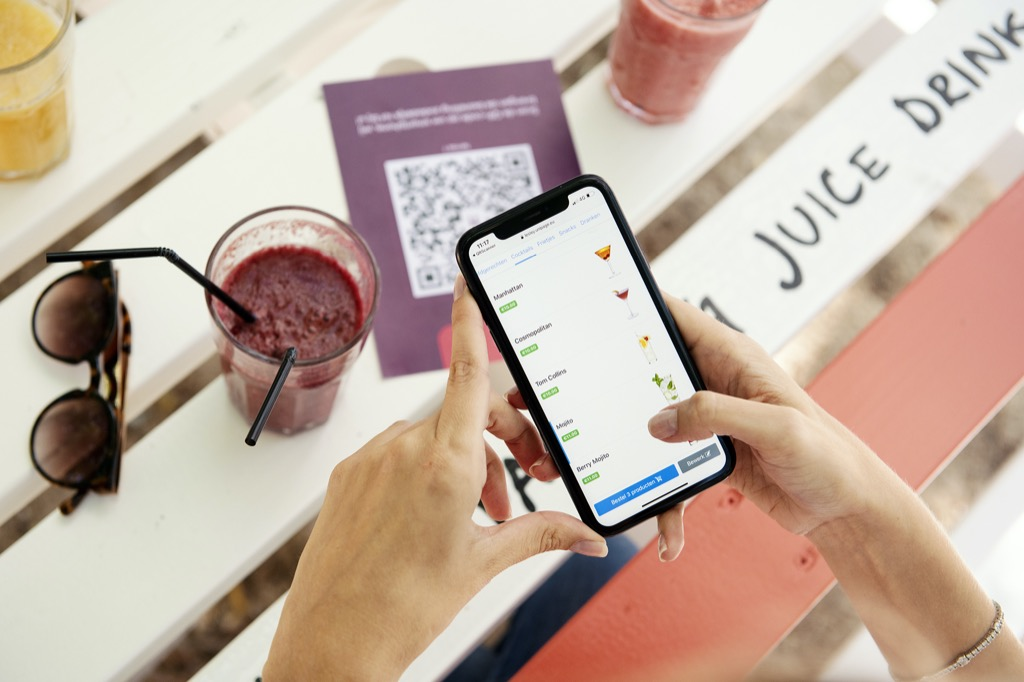 Your digital menu on the smartphone of your customer